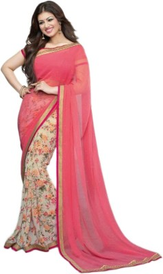 JD EXPORT Floral Print Bollywood Georgette Sari