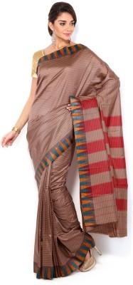 Sudarshan Silks Striped Fashion Georgette Sari