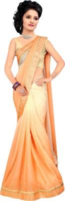 Jayambeyent Plain Fashion Handloom Pure Chiffon Sari
