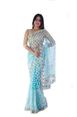 Aryya Self Design Fashion Brasso Sari