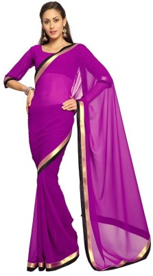Amar Enterprise Plain Daily Wear Georgette Sari