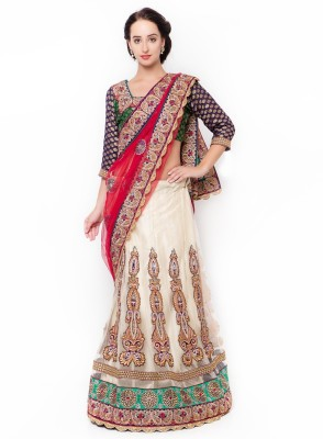 Triveni Self Design Fashion Net Saree(Multicolor) at flipkart
