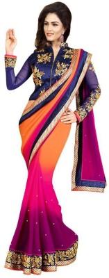 Om Shantam Saree's Embriodered Bollywood Georgette Sari