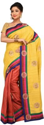 Charvi Embriodered Fashion Handloom Tussar Silk Sari