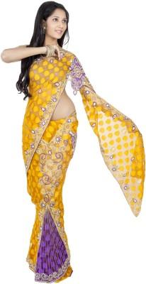 Celebez Embriodered Fashion Handloom Brasso Sari