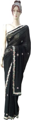 JAY BHAIRAV Embriodered Daily Wear Synthetic Sari