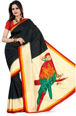 AJS Geometric Print, Striped, Printed Fashion Art Silk Saree(Multicolor) at flipkart