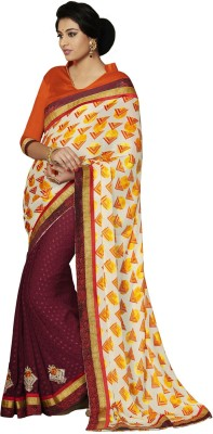 Indian Women By Bahubali Self Design Fashion Satin Sari