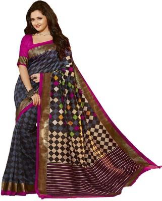Galaxy Women Self Design Bhagalpuri Art Silk Sari