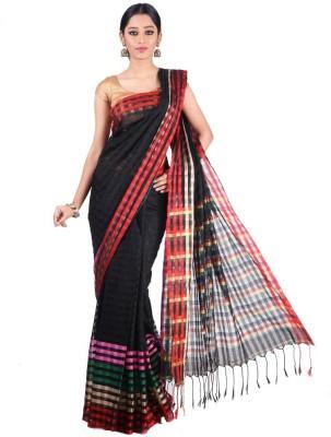 Appu Checkered Fashion Handloom Cotton Sari