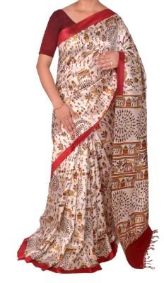 Priyanjali Boutique Printed Bhagalpuri Handloom Dupion Silk Sari
