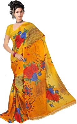 SNEH VARSHA SAREES Printed Fashion Synthetic Georgette Sari