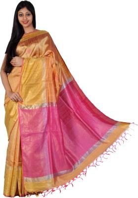PriyanjaliBoutique Embellished Bhagalpuri Handloom Dupion Silk Sari