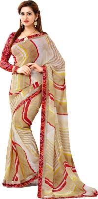 Way2 Self Design Leheria Handloom Georgette Sari