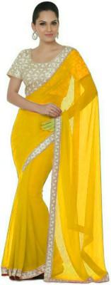 stylish sarees Plain Bollywood Chiffon Sari