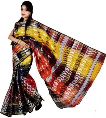 MCLS FASHION Woven Tangail Handloom Tussar Silk Sari