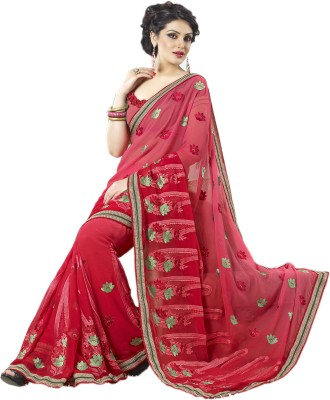 Khodal Fashion Embriodered Bollywood Georgette Sari