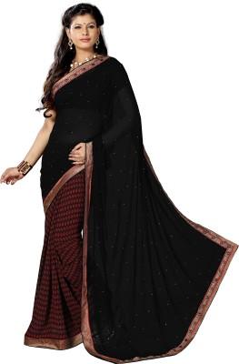Royal Choice Geometric Print Fashion Georgette Sari