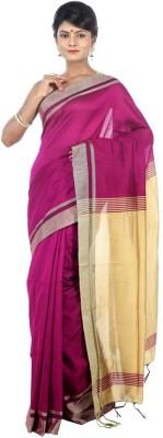 AVIK Self Design Bollywood Handloom Cotton, Silk, Art Silk, Silk Cotton Blend Sari