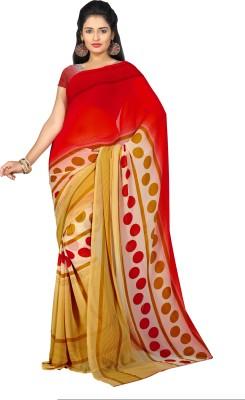 Musicmania Printed Bhagalpuri Handloom Georgette Sari