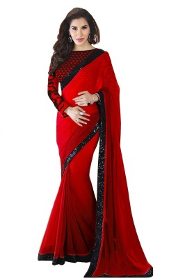 Glory Sarees Embriodered Daily Wear Georgette Sari