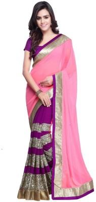 Manjula Feb Self Design Fashion Georgette Sari