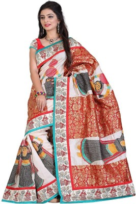 Vwaan Fashion Embriodered Fashion Art Silk Sari