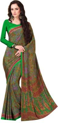 DESIGN WILLA Printed Mysore Crepe Sari