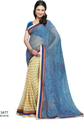 Indianbeauty Printed Bollywood Georgette Sari