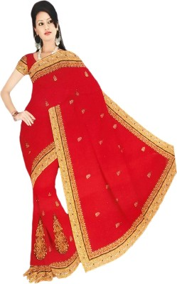 RoopSangamz Embellished Bollywood Georgette Sari