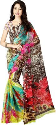 Shree Sidh Floral Print Daily Wear Chiffon Sari