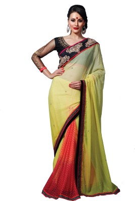 Love Your Look Embriodered Bollywood Georgette Sari