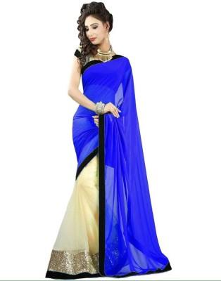 360bazaar Solid Fashion Silk Sari