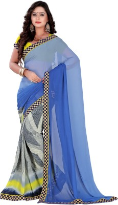 Go Traditional Printed Fashion Georgette Sari