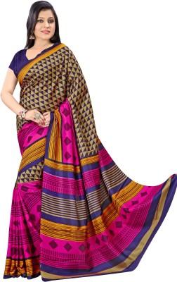 Urban Vastra Geometric Print Fashion Raw Silk Sari