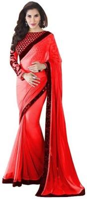 Charvi Self Design Fashion Georgette Sari