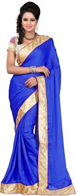 Majestic Silk Embellished Fashion Crepe Sari
