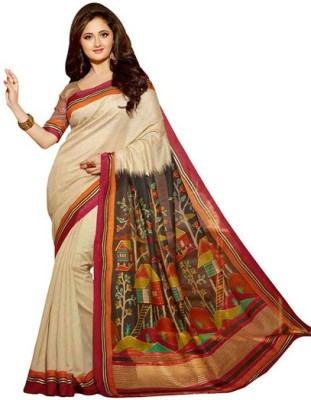 K.C Self Design Bollywood Art Silk Sari