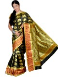 Samruddhi Poly Sarees Self Design Banara...
