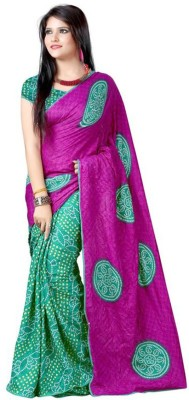 Awesome Fab Printed Fashion Georgette Sari