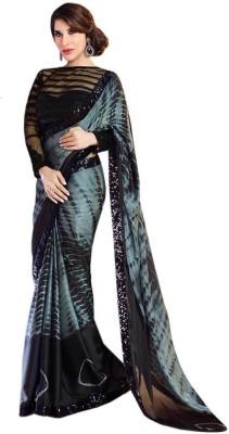 Shree Sai NX Printed Leheria Synthetic Georgette Sari