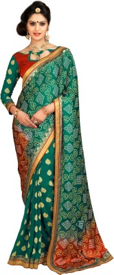 RekhaManiyar Fashions Self Design Fashion Georgette, Silk, Viscose Sari