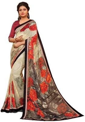 Cutie Fashion Self Design Fashion Georgette Sari