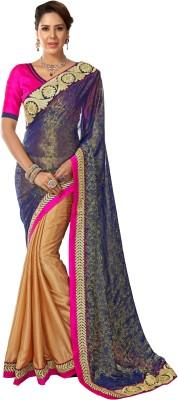 S J Trendz Embriodered Fashion Chiffon Sari