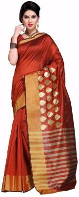 EvaFashion Plain Fashion Handloom Banarasi Silk Sari