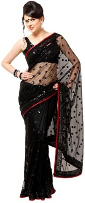 Krishna Applique Fashion Net Sari