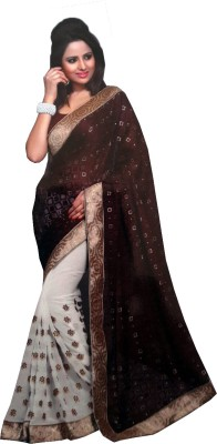 fashion square Printed Fashion Synthetic Georgette Sari