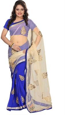 Aimretail Self Design Fashion Net Sari