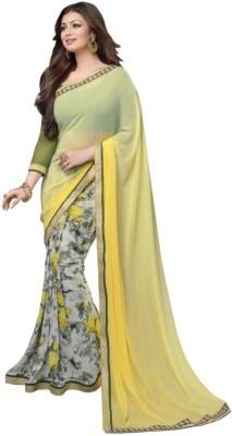 Ruaab Fashion Printed Fashion Georgette Sari