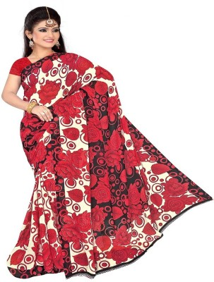 Lace House Printed Daily Wear Chiffon Sari